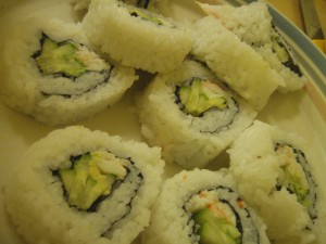 My California rolls.
